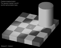Checker-shadow illusion